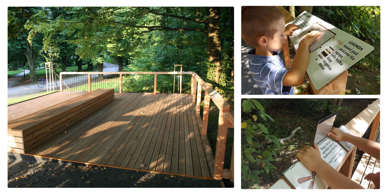 Gozdna učilnica v Parku Tivoli v Ljubljani