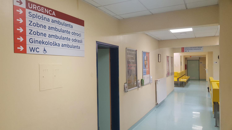 Izvedba usmerjevalnega sistema v Zdravstvenem domu Črnomelj